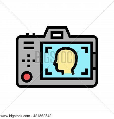 Surveillance Detective Occupation Color Icon Vector. Surveillance Detective Occupation Sign. Isolate