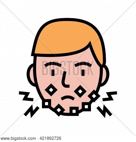 Injury Face After Shave Color Icon Vector. Injury Face After Shave Sign. Isolated Symbol Illustratio