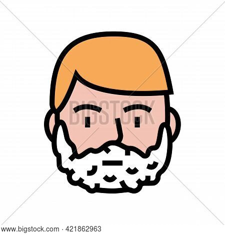 Foam For Shave On Man Face Color Icon Vector. Foam For Shave On Man Face Sign. Isolated Symbol Illus