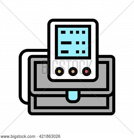 Portable Cardio Device Color Icon Vector. Portable Cardio Device Sign. Isolated Symbol Illustration