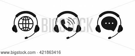 Tech Support Icons Set. Customer Service. Call Center. Support Service For User Consultation. Custom