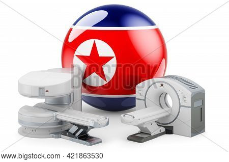 Mri And Ct Diagnostic, Research Centres In North Korea. Mri Machine And Ct Scanner With North Korean