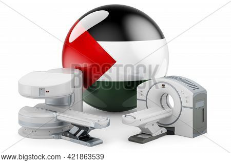 Mri And Ct Diagnostic, Research Centres In Palestine. Mri Machine And Ct Scanner With Palestinian Fl