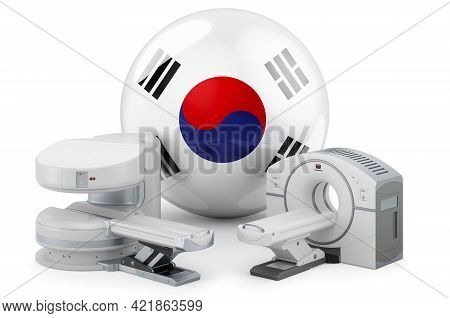 Mri And Ct Diagnostic, Research Centres In South Korea. Mri Machine And Ct Scanner With South Korean