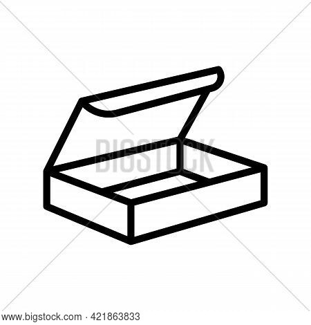 Delivering Package Box Line Icon Vector. Delivering Package Box Sign. Isolated Contour Symbol Black