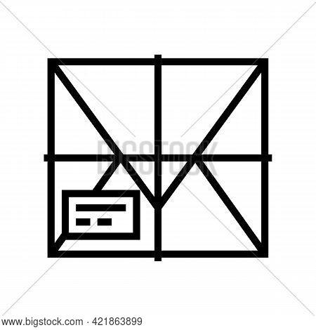 Parcel Box Line Icon Vector. Parcel Box Sign. Isolated Contour Symbol Black Illustration