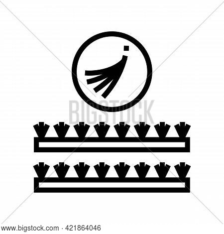 False Eyelashes Set Line Icon Vector. False Eyelashes Set Sign. Isolated Contour Symbol Black Illust