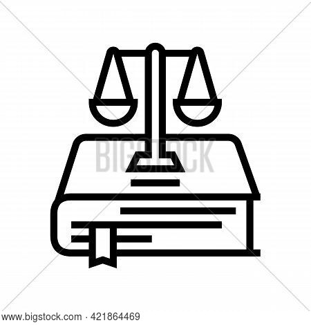 Constitution Law Line Icon Vector. Constitution Law Sign. Isolated Contour Symbol Black Illustration