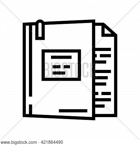 Case Law Line Icon Vector. Case Law Sign. Isolated Contour Symbol Black Illustration