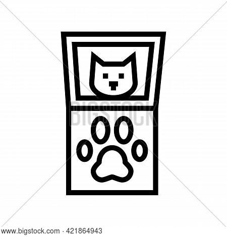 Paw Pals Paw Print Kit Line Icon Vector. Paw Pals Paw Print Kit Sign. Isolated Contour Symbol Black