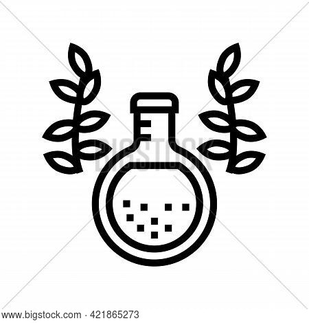 Elixir Phytotherapy Line Icon Vector. Elixir Phytotherapy Sign. Isolated Contour Symbol Black Illust