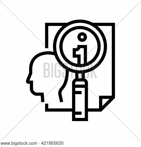 Personal Information Research Detective Line Icon Vector. Personal Information Research Detective Si