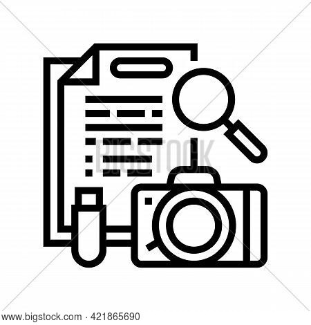 Collection Of Evidence Line Icon Vector. Collection Of Evidence Sign. Isolated Contour Symbol Black