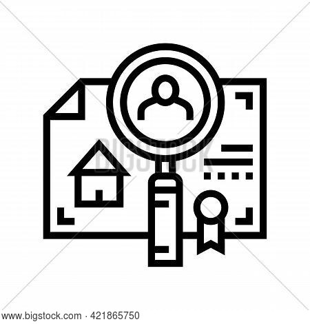 Checking Tenant Recommendations Line Icon Vector. Checking Tenant Recommendations Sign. Isolated Con