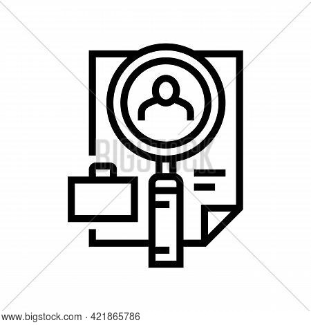 Cv Confirmation Line Icon Vector. Cv Confirmation Sign. Isolated Contour Symbol Black Illustration