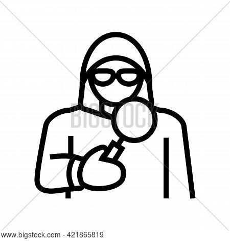 Covert Operations Line Icon Vector. Covert Operations Sign. Isolated Contour Symbol Black Illustrati