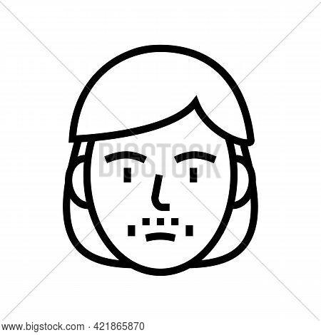 Mustache Face Shave Line Icon Vector. Mustache Face Shave Sign. Isolated Contour Symbol Black Illust