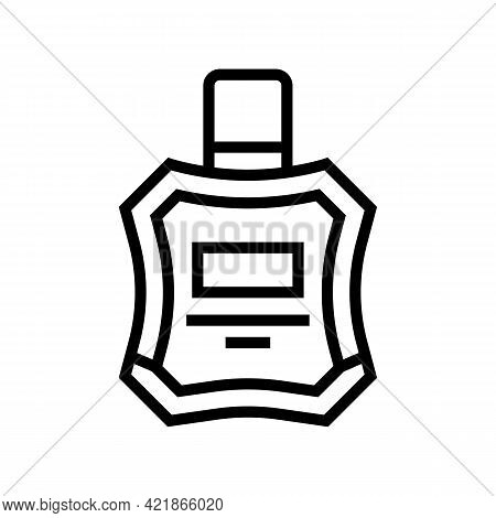 Cologne Perfume After Shaving Line Icon Vector. Cologne Perfume After Shaving Sign. Isolated Contour