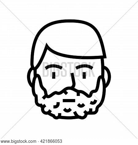 Foam For Shave On Man Face Line Icon Vector. Foam For Shave On Man Face Sign. Isolated Contour Symbo