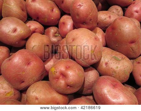 Red Potatoes Pattern Background