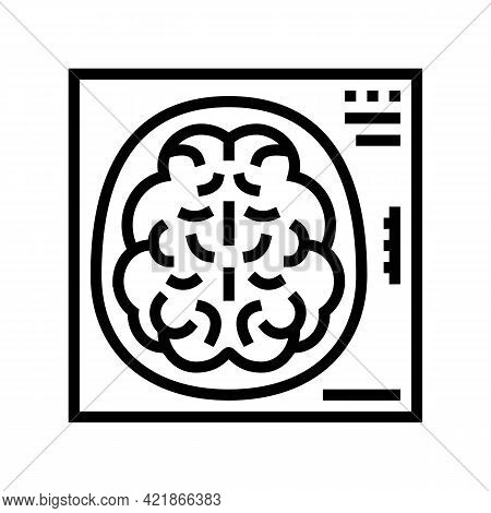 Mind X-ray Line Icon Vector. Mind X-ray Sign. Isolated Contour Symbol Black Illustration