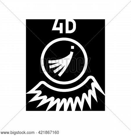 4d Eyelashes Glyph Icon Vector. 4d Eyelashes Sign. Isolated Contour Symbol Black Illustration
