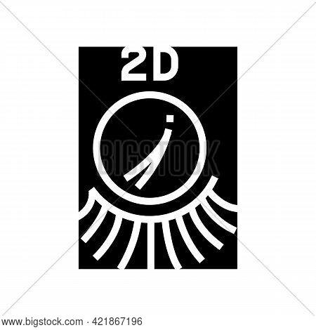 2d Eyelashes Glyph Icon Vector. 2d Eyelashes Sign. Isolated Contour Symbol Black Illustration