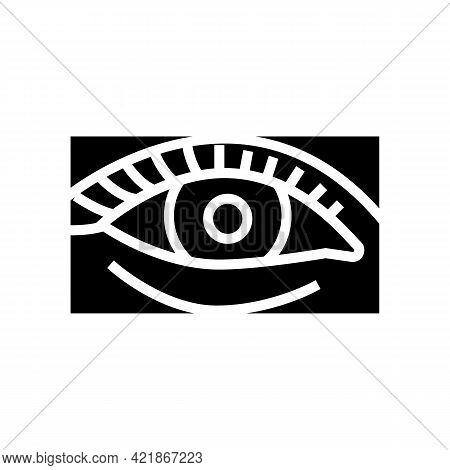 Natural Woman Eyelashes Glyph Icon Vector. Natural Woman Eyelashes Sign. Isolated Contour Symbol Bla