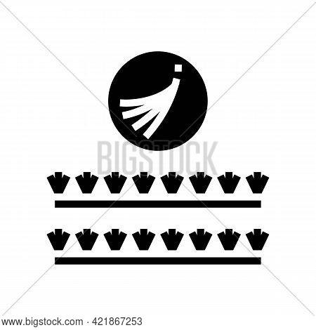 False Eyelashes Set Glyph Icon Vector. False Eyelashes Set Sign. Isolated Contour Symbol Black Illus
