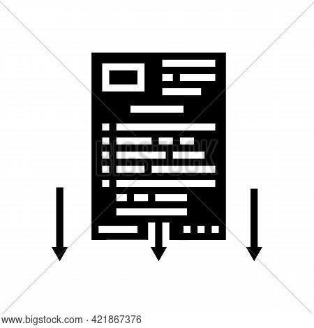 Lawsuit Document Glyph Icon Vector. Lawsuit Document Sign. Isolated Contour Symbol Black Illustratio