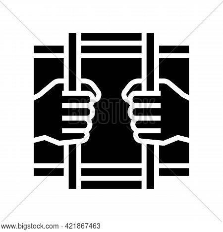 Crime Law Glyph Icon Vector. Crime Law Sign. Isolated Contour Symbol Black Illustration