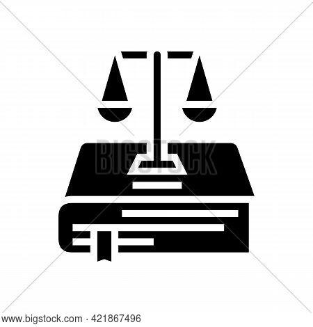 Constitution Law Glyph Icon Vector. Constitution Law Sign. Isolated Contour Symbol Black Illustratio