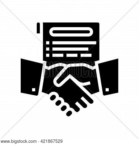 Agreement Lawyer Glyph Icon Vector. Agreement Lawyer Sign. Isolated Contour Symbol Black Illustratio