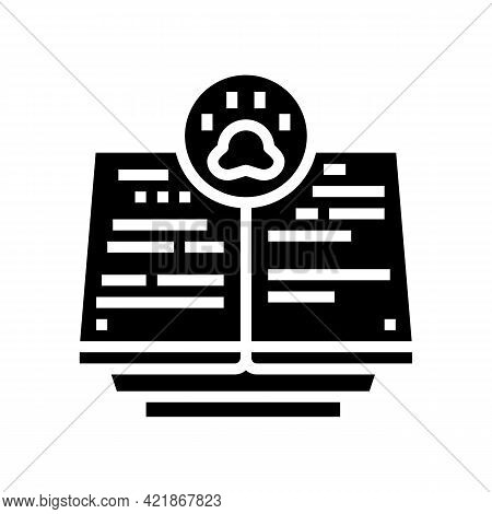 Books Of Remembrance Glyph Icon Vector. Books Of Remembrance Sign. Isolated Contour Symbol Black Ill
