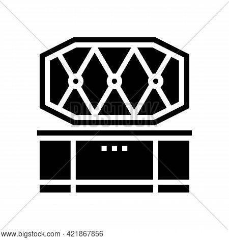 Coffin Pet Funeral Glyph Icon Vector. Coffin Pet Funeral Sign. Isolated Contour Symbol Black Illustr