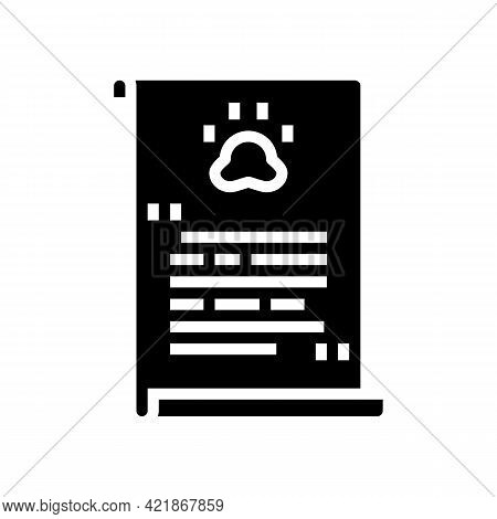Prayer Pet Funeral Glyph Icon Vector. Prayer Pet Funeral Sign. Isolated Contour Symbol Black Illustr
