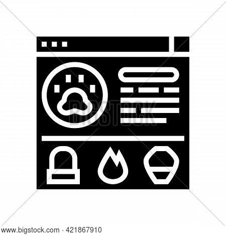 Service Pet Funeral Glyph Icon Vector. Service Pet Funeral Sign. Isolated Contour Symbol Black Illus