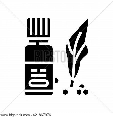 Natural Vitamins Phytotherapy Glyph Icon Vector. Natural Vitamins Phytotherapy Sign. Isolated Contou