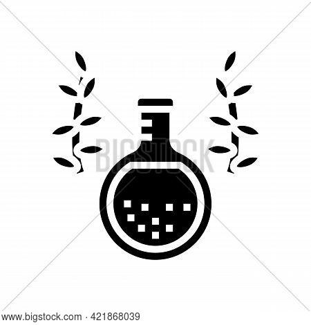 Elixir Phytotherapy Glyph Icon Vector. Elixir Phytotherapy Sign. Isolated Contour Symbol Black Illus