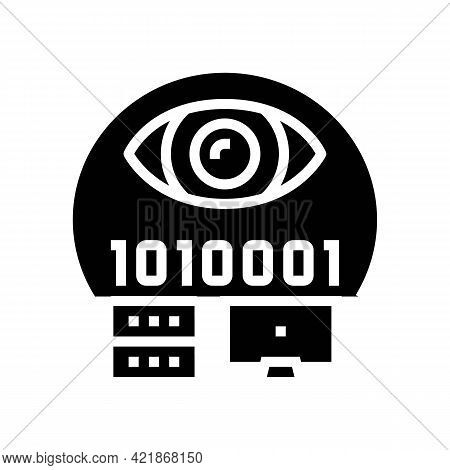 Electronic Fraud Glyph Icon Vector. Electronic Fraud Sign. Isolated Contour Symbol Black Illustratio