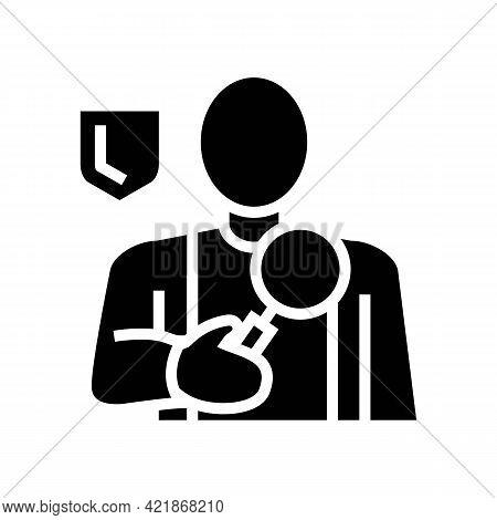 Corporate Surveillance Glyph Icon Vector. Corporate Surveillance Sign. Isolated Contour Symbol Black