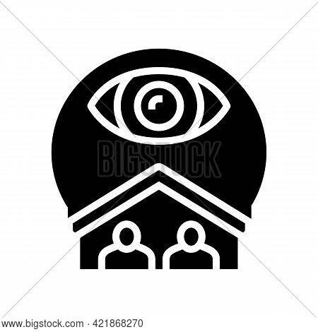 Cohabitation Surveillance Glyph Icon Vector. Cohabitation Surveillance Sign. Isolated Contour Symbol