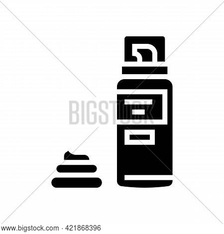 Foam For Shave Glyph Icon Vector. Foam For Shave Sign. Isolated Contour Symbol Black Illustration