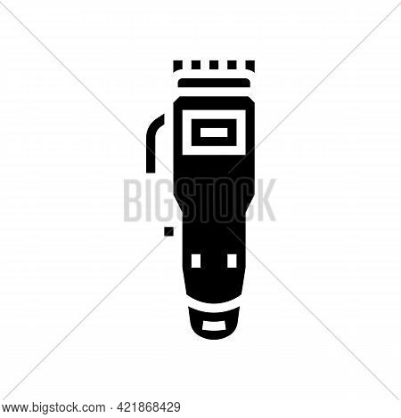Trimmer Gadget Glyph Icon Vector. Trimmer Gadget Sign. Isolated Contour Symbol Black Illustration