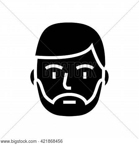 Bearded Man Glyph Icon Vector. Bearded Man Sign. Isolated Contour Symbol Black Illustration