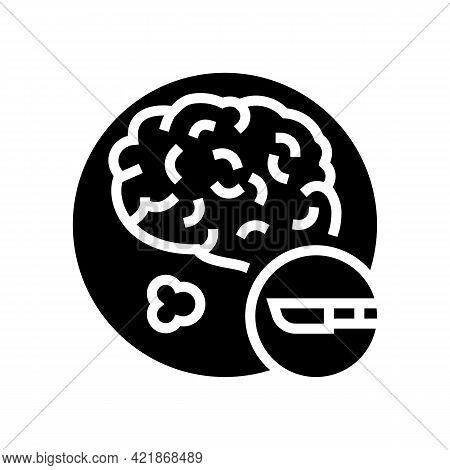 Surgical Operation Brain Stroke Treatment Glyph Icon Vector. Surgical Operation Brain Stroke Treatme
