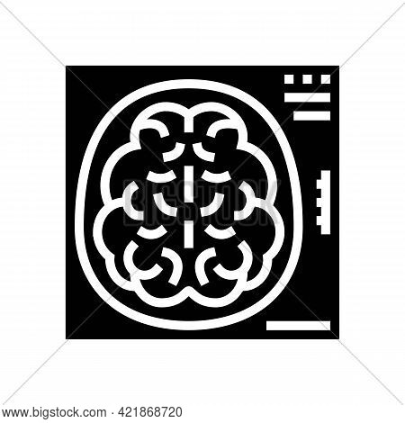 Mind X-ray Glyph Icon Vector. Mind X-ray Sign. Isolated Contour Symbol Black Illustration