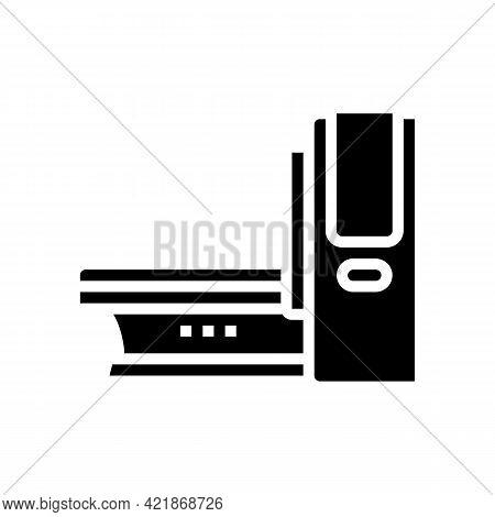 Mri Medical Equipment Glyph Icon Vector. Mri Medical Equipment Sign. Isolated Contour Symbol Black I