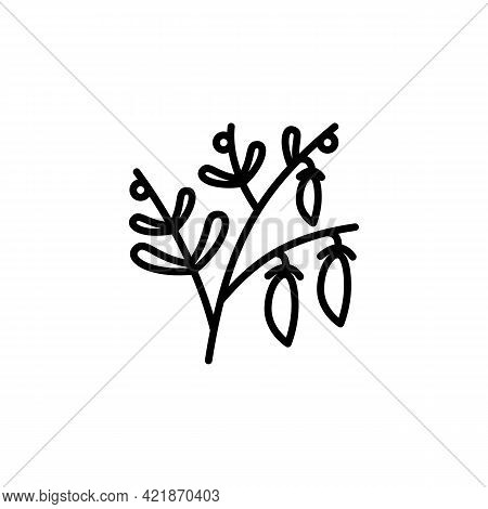 Lentil Line Icon In A Simple Style. Vector Sign In A Simple Style Isolated On A White Background. 64