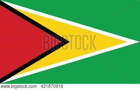 National Guyana Flag, Official Colors And Proportion Correctly. National Guyana Flag.